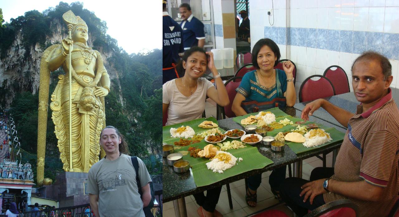 Batu Caves, Hindu, Indian food, solo travel, Malaysia