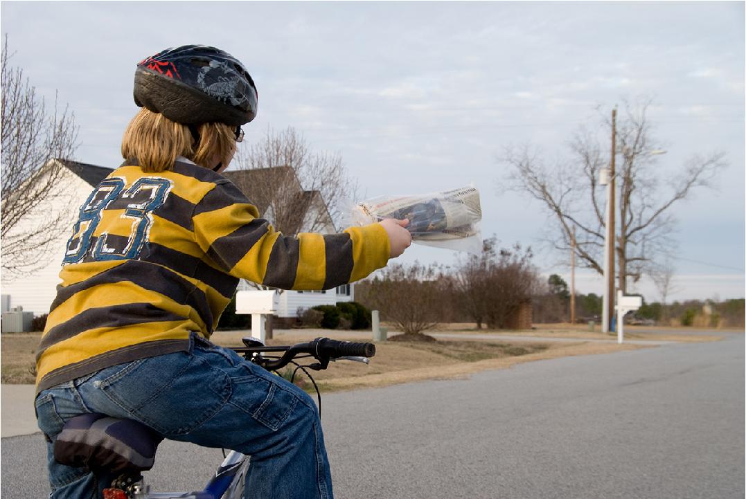paperboy deliver newspaper