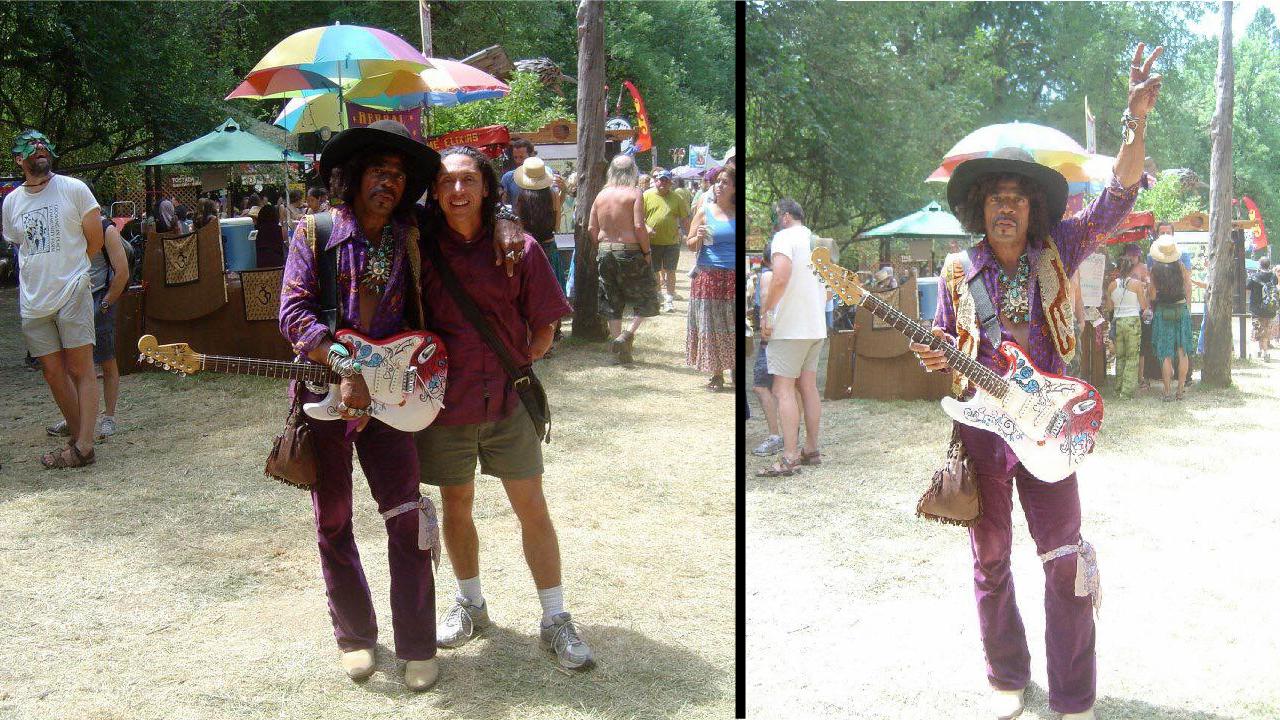 Oregon Country Fair, The Peach Pit, Jimi Hendrix, Rare Moments