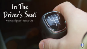 driving,stick shift,driver's seat,podcast,storytelling,manual transmission,one hand