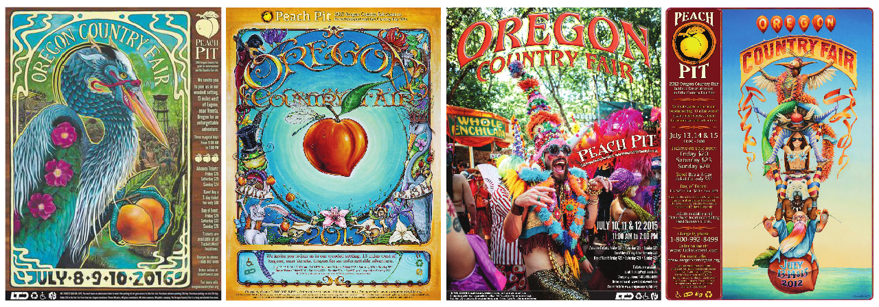 Oregon Country Fair, Festival, Oregon, Peach Pit, Cover Art