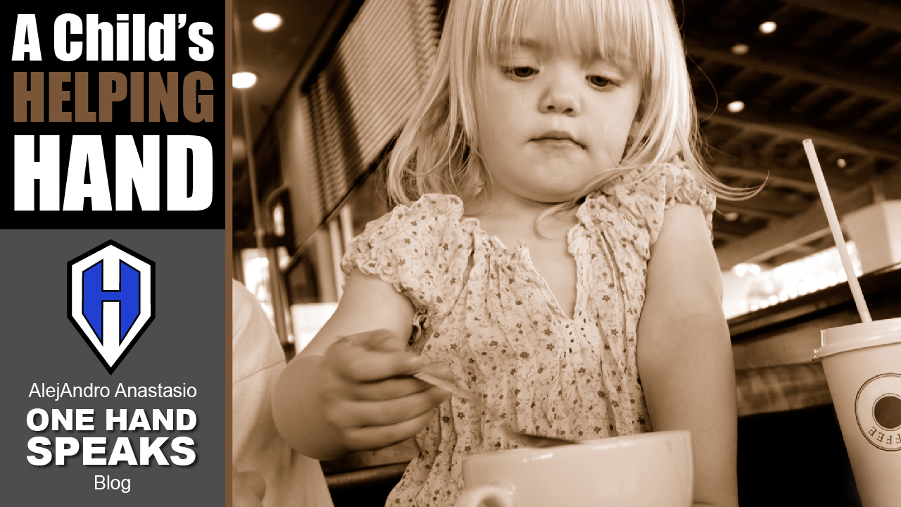 Children, Disability, A Helping Hand, Coffee Shop, Kindness, Blog, Storytelling